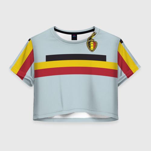 Женская футболка Crop-top 3D Сборная Бельгия