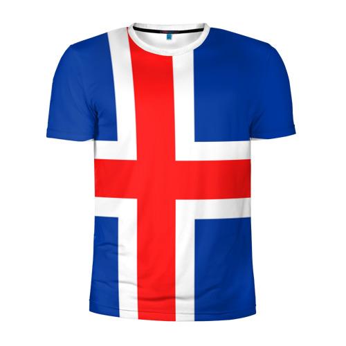 Мужская футболка 3D спортивная Исландия