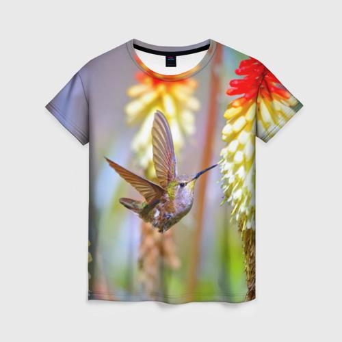 Женская футболка 3D Колибри