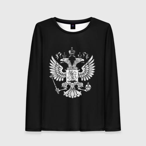 Женский лонгслив 3D Двуглавый орел