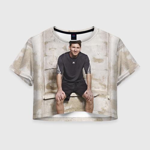 Женская футболка Crop-top 3D Месси