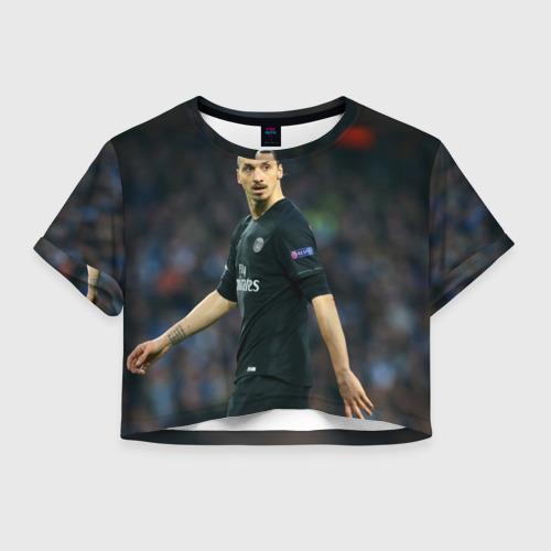 Женская футболка Crop-top 3D Златан Ибрагимович