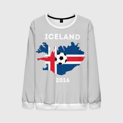 Мужской свитшот 3D Исландия