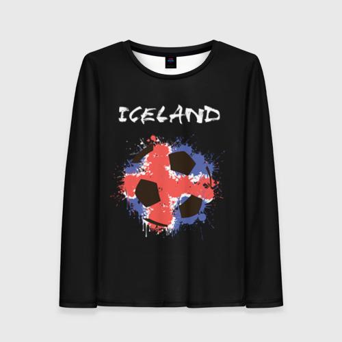 Женский лонгслив 3D Исландия