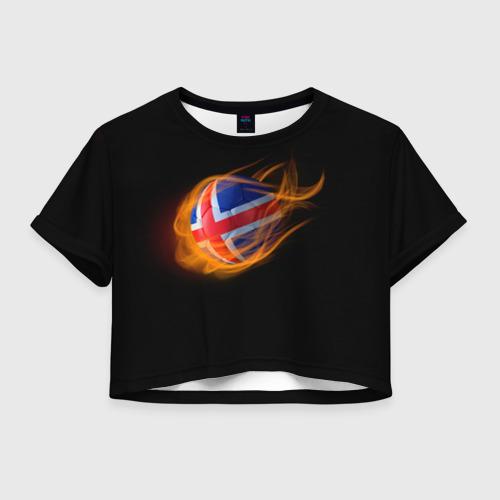 Женская футболка Crop-top 3D Исландия
