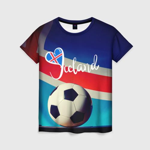 Женская футболка 3D Исландия