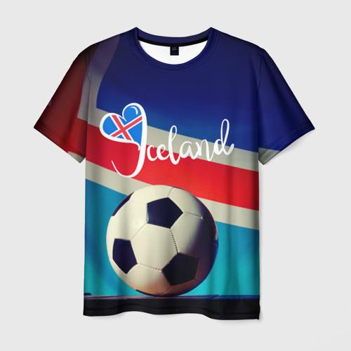 Мужская футболка 3D Исландия