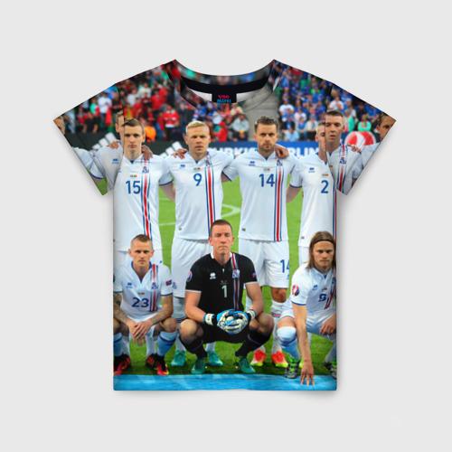 Детская футболка 3D Сборная Исландии по футболу