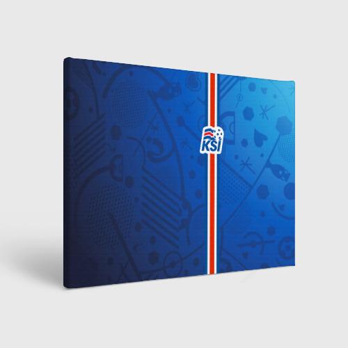 Холст прямоугольный Форма сборной Исландии по футболу