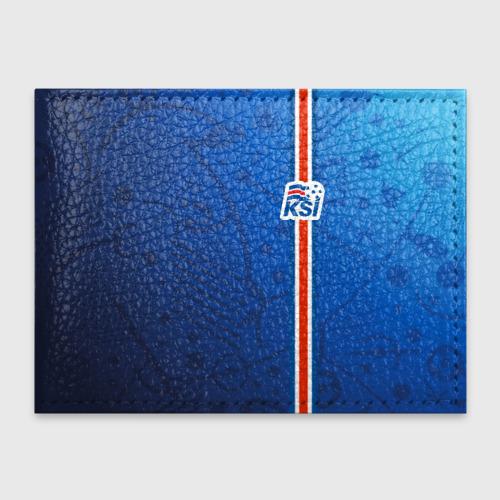 Обложка для студенческого билета Форма сборной Исландии по футболу