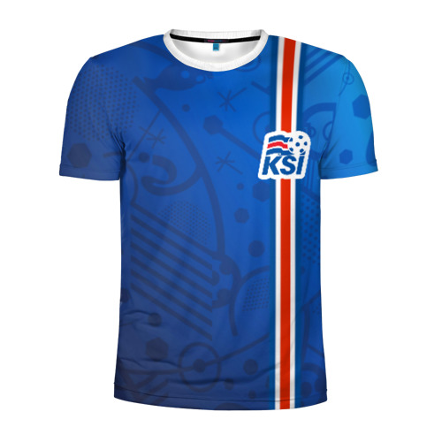 Мужская футболка 3D спортивная Форма сборной Исландии по футболу