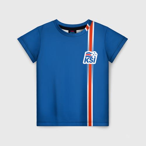 Детская футболка 3D Форма сборной Исландии по футболу