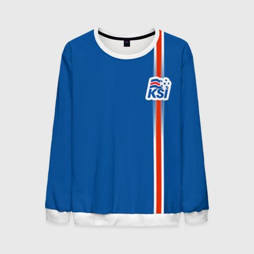 Мужской свитшот 3D Форма сборной Исландии по футболу