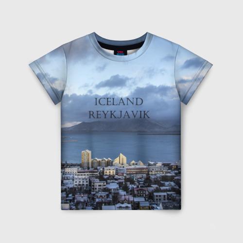Детская футболка 3D Исландия Рейкявик