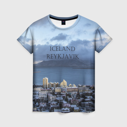 Женская футболка 3D Исландия Рейкявик