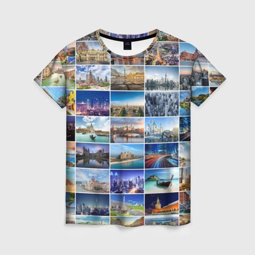Женская футболка 3D Страны мира (9х9)