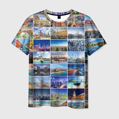 Мужская футболка 3D Страны мира (9х9)