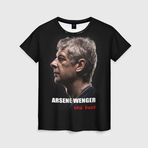 Женская футболка 3D Arsene Wenger (Arsenal)