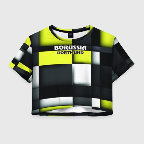 Женская футболка Crop-top 3D Borussia