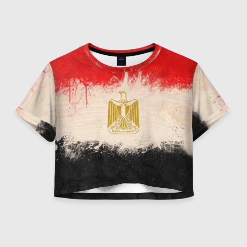 Женская футболка Crop-top 3D Египет