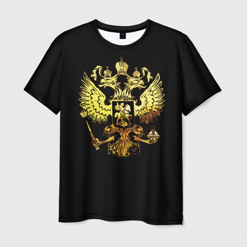 Мужская футболка 3D Герб России (Art)