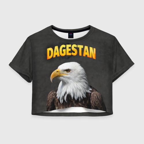 Женская футболка Crop-top 3D Дагестан 3