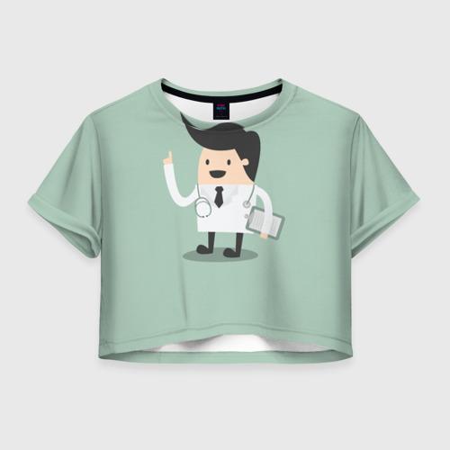 Женская футболка Crop-top 3D Доктор
