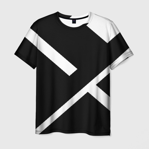 Мужская футболка 3D Black and White