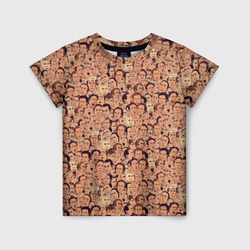 Детская футболка 3D Николас Кейдж