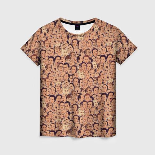 Женская футболка 3D Николас Кейдж
