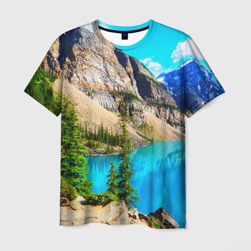 Мужская футболка 3D Природа
