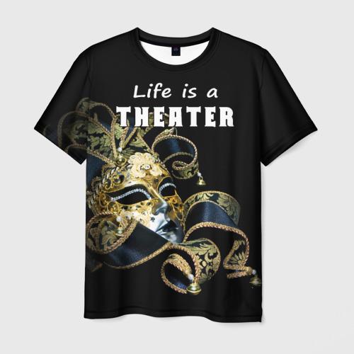 Мужская футболка 3D Жизнь - это театр