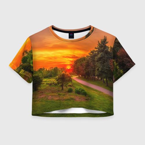 Женская футболка Crop-top 3D Канада