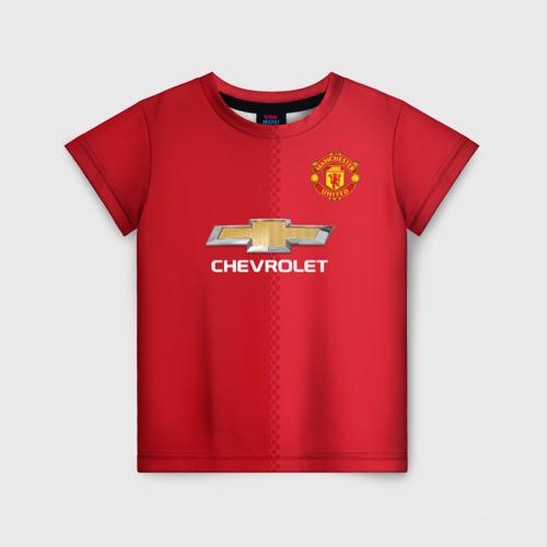 Детская футболка 3D Манчестер Юнайтед форма