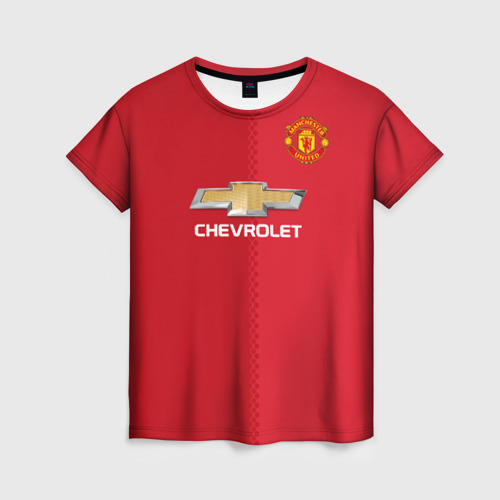 Женская футболка 3D Манчестер Юнайтед форма