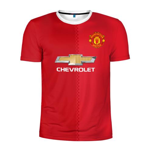 Мужская футболка 3D спортивная Манчестер Юнайтед форма
