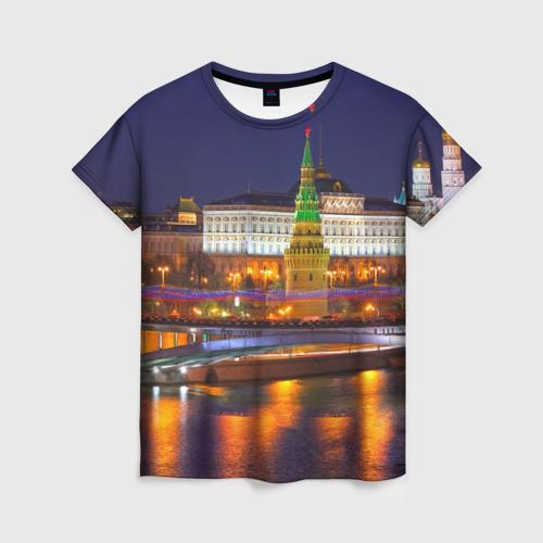 Женская футболка 3D Москва (Кремль)