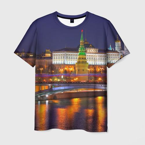 Мужская футболка 3D Москва (Кремль)