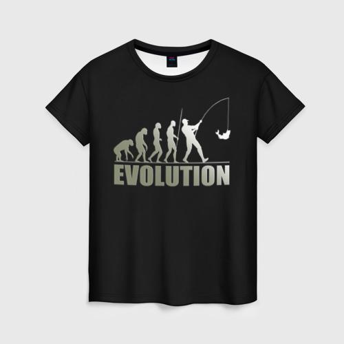 Женская футболка 3D Эволюция