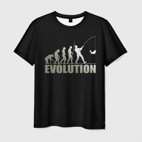 Мужская футболка 3D Эволюция