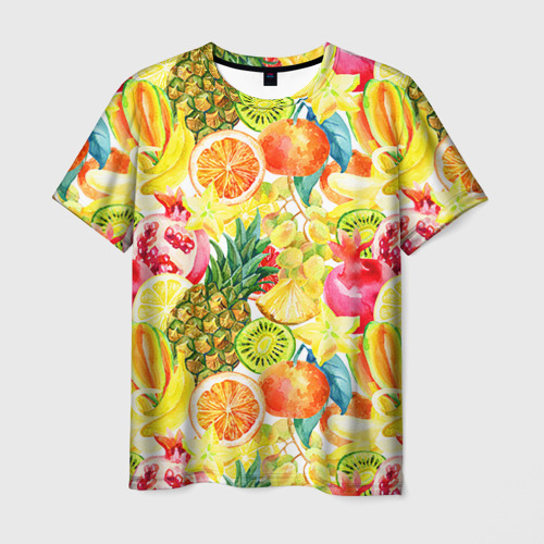 Мужская футболка 3D Веселые фрукты 1