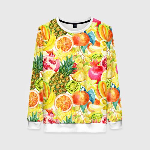Женский свитшот 3D Веселые фрукты 1