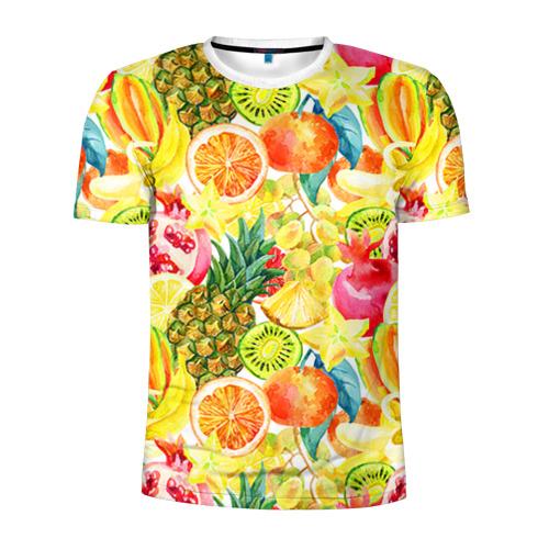 Мужская футболка 3D спортивная Веселые фрукты 1