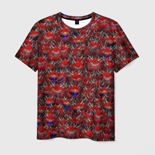 Мужская футболка 3D Какодемоны (pixel-art)