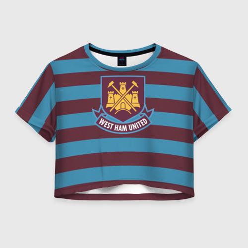 Женская футболка Crop-top 3D West Ham United