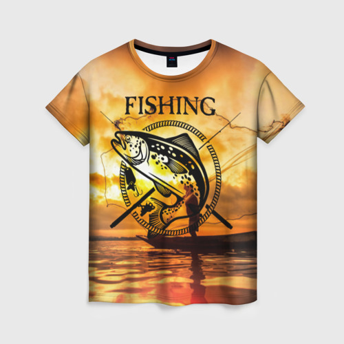 Женская футболка 3D Рыбалка