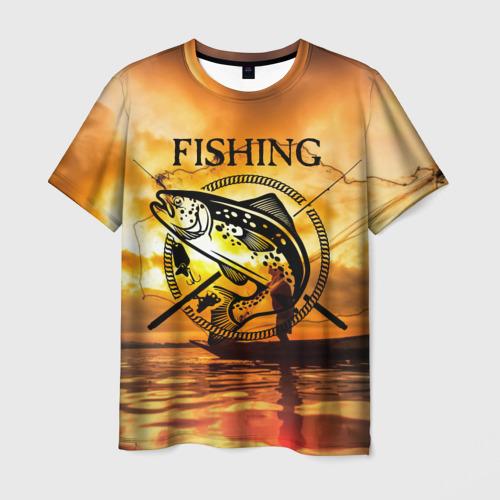 Мужская футболка 3D Рыбалка