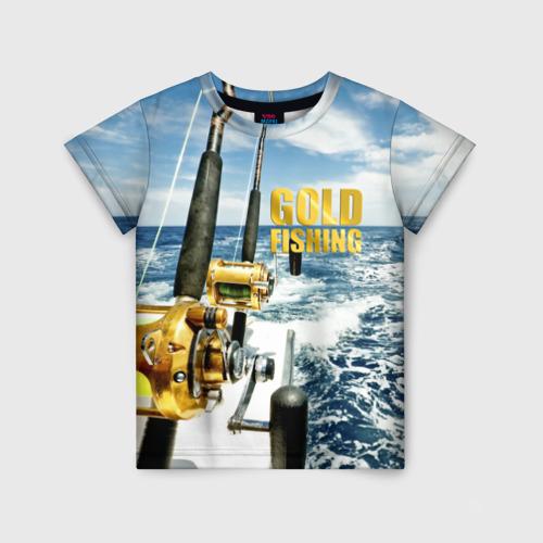 Детская футболка 3D Золотая рыбалка