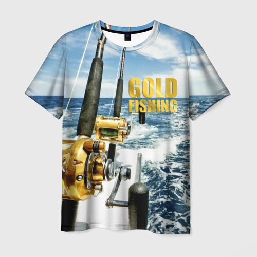 Мужская футболка 3D Золотая рыбалка