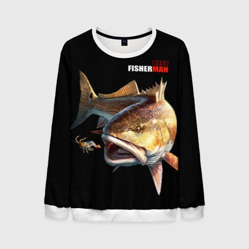 Мужской свитшот 3D Лучший рыбак